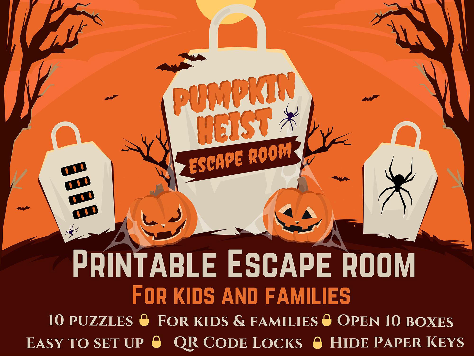 Escape Room for Kids - Pumpkin Heist (Halloween)